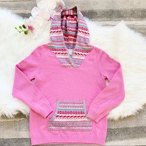 Garnet Hill Kids Girls Pink Sweater Pullover sz L